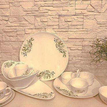 Посуда ручной работы. Ярмарка Мастеров - ручная работа Столовый сервиз Ветви оливы. Handmade.