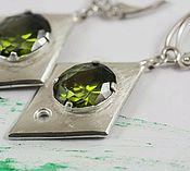Украшения handmade. Livemaster - original item Silver GEOMETRIC matte earrings. Handmade.