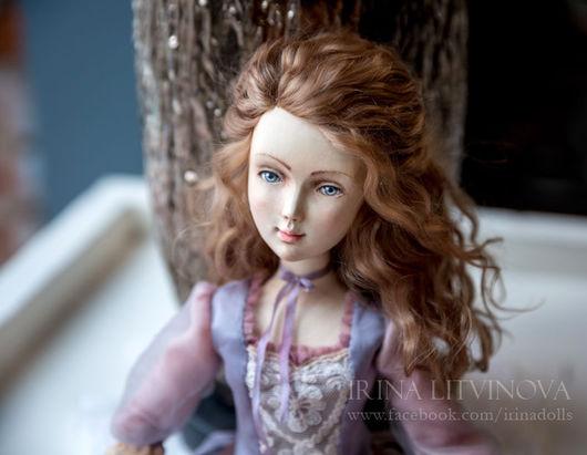 Коллекционные куклы ручной работы. Ярмарка Мастеров - ручная работа. Купить Подвижная кукла из дерева Верочка. Handmade. Бледно-розовый