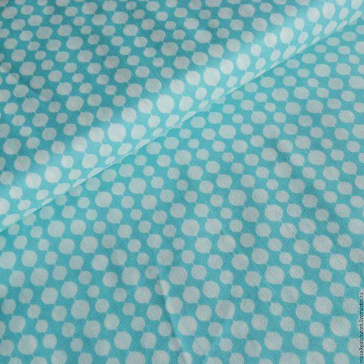 """Шитье ручной работы. Ярмарка Мастеров - ручная работа. Купить Хлопок для пэчворка. Ткань для шитья. """"Голубой с рисунком"""". Handmade. Голубой"""
