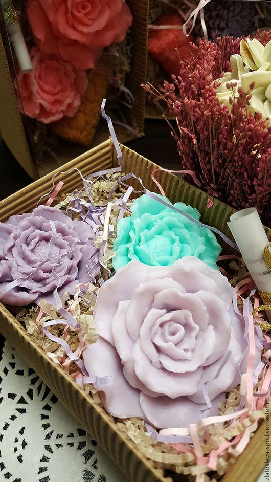 Мыло ручной работы. Ярмарка Мастеров - ручная работа. Купить Цветущий сад мал. (набор мыла подарочный). Handmade. Сиреневый