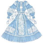 """Одежда handmade. Livemaster - original item Голубое фатиновое платье """"Розовые Мечты"""". Handmade."""