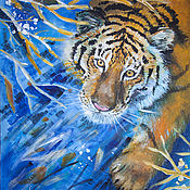 Картины и панно ручной работы. Ярмарка Мастеров - ручная работа Амурский тигр. Handmade.