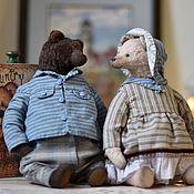 Мишки Тедди ручной работы. Ярмарка Мастеров - ручная работа Семья мишек тедди.. Handmade.