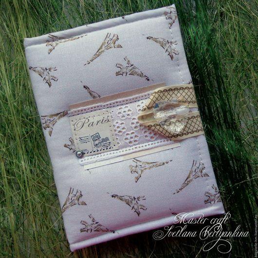Романтичный, нежный и женственный блокнот ручной работы.