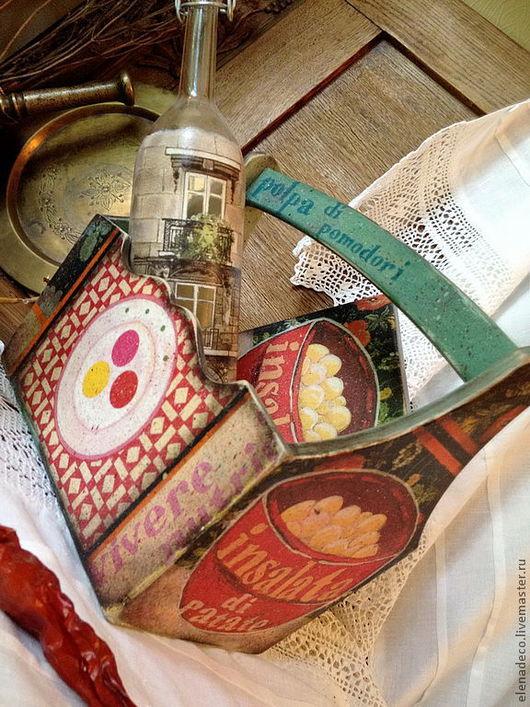 """Кухня ручной работы. Ярмарка Мастеров - ручная работа. Купить """"Insalata di patate"""" - короб-корзина и подставка п. Handmade."""