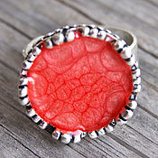 Украшения handmade. Livemaster - original item Ring round Crown red. Handmade.