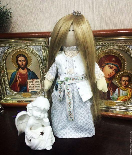 Куклы тыквоголовки ручной работы. Ярмарка Мастеров - ручная работа. Купить Для любимой королевы. Кукла в подарок.. Handmade. Белый