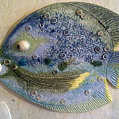 Картины ручной работы. Ярмарка Мастеров - ручная работа Панно-рыба. Handmade.