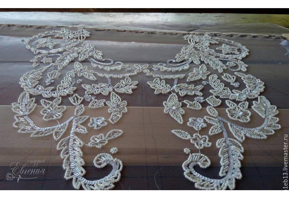 Вышивание свадебного платья