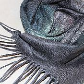 """Аксессуары ручной работы. Ярмарка Мастеров - ручная работа Шарф мужской валяный """"Silver Mint"""". Handmade."""