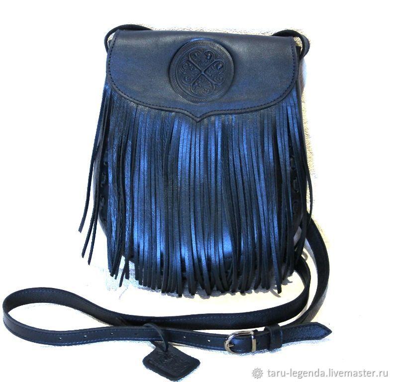 Сумка кожаная Индиана - синий металлик, Классическая сумка, Петрозаводск,  Фото №1