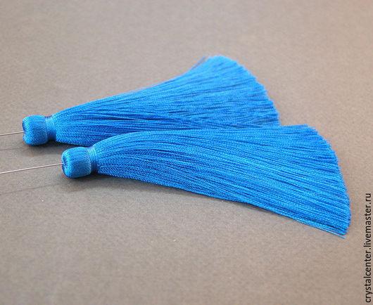 """Для украшений ручной работы. Ярмарка Мастеров - ручная работа. Купить Кисть шелковая с пином - """" Королевский синий"""". Handmade."""