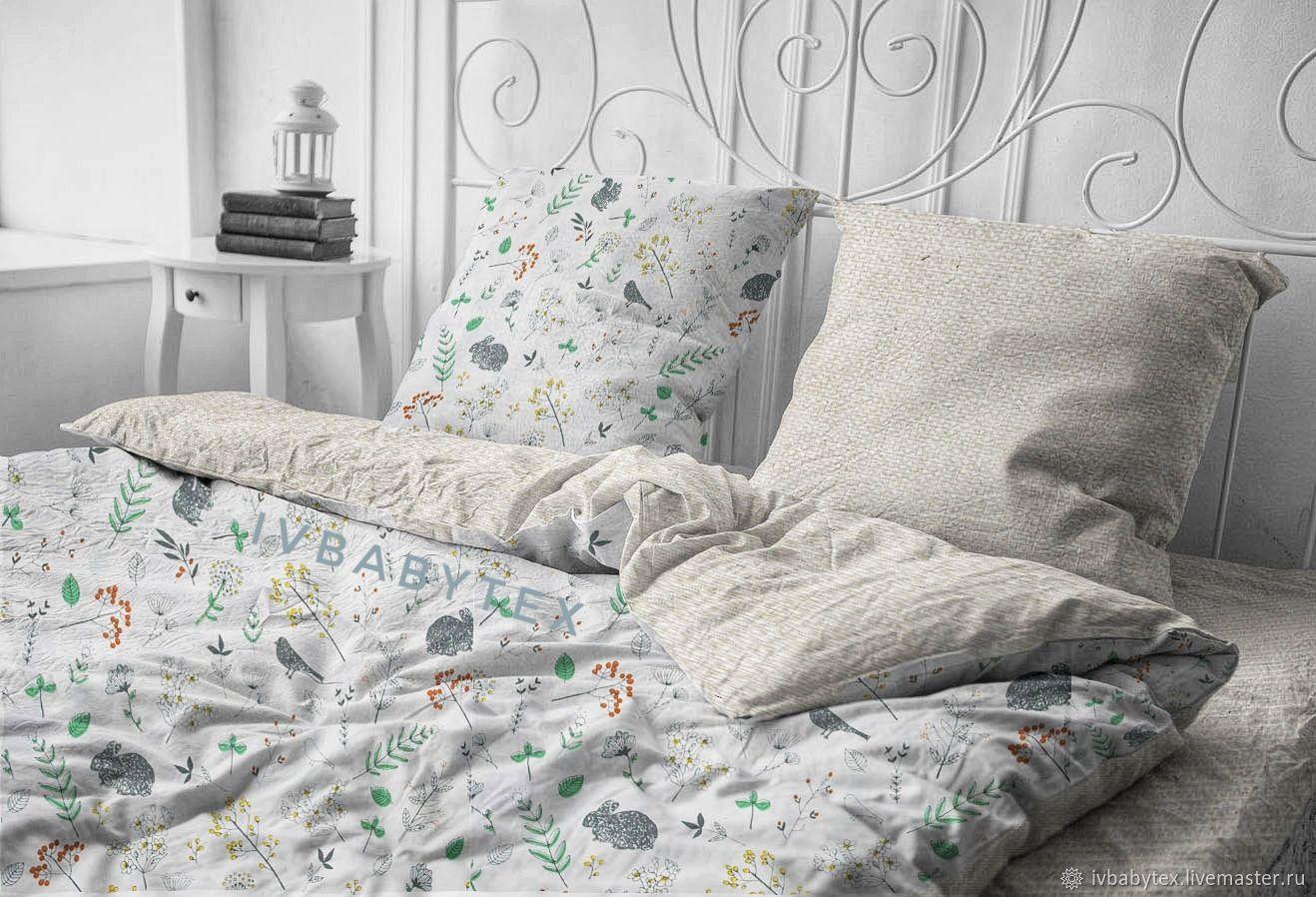 Linen linen cotton ' Twigs', Bedding sets, Ivanovo,  Фото №1