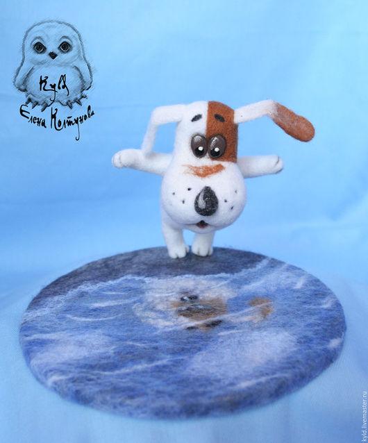 """Игрушки животные, ручной работы. Ярмарка Мастеров - ручная работа. Купить Умная собачка Соня """"Кто сделал лужу?"""". Handmade."""