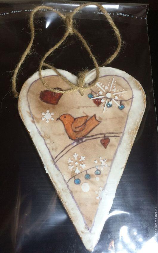 Кулинарные сувениры ручной работы. Ярмарка Мастеров - ручная работа. Купить Пряничное сердце винтаж. Handmade. Пряник, вкусный пряник