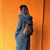 """Одежда ручной работы. Ярмарка Мастеров - ручная работа Вязаное пальто с объемным капюшоном """"Silver Fox"""".. Handmade."""