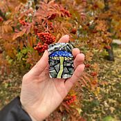 Украшения handmade. Livemaster - original item Florentine mosaic. Brooch