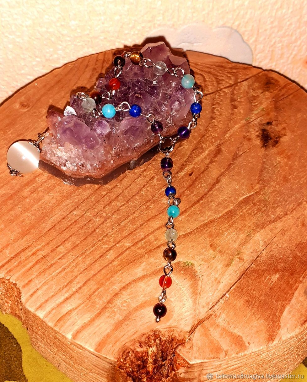 Chakra chain of natural stones talisman Harmonization, Amulet, Moscow,  Фото №1