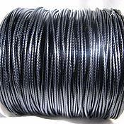 Материалы для творчества handmade. Livemaster - original item Wax cord 2 mm for jewelry black. Handmade.