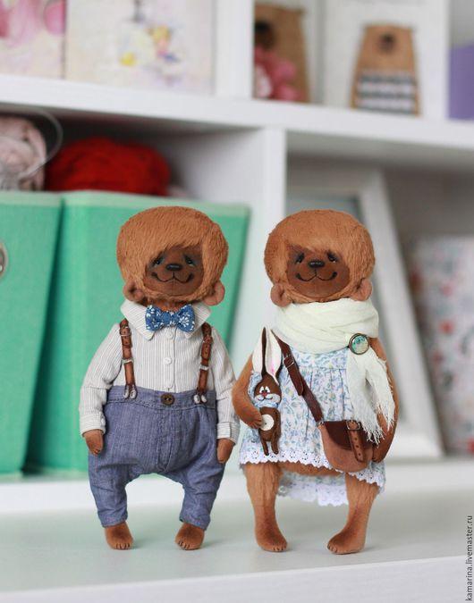 Мишки Тедди ручной работы. Ярмарка Мастеров - ручная работа. Купить Мишки. Handmade. Коричневый, опилки древесные
