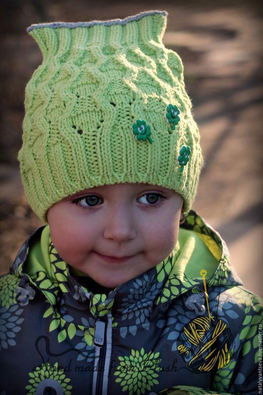 Обучающие материалы ручной работы. Ярмарка Мастеров - ручная работа. Купить МК-описание детской весенней шапки Fresh (Фреш). Handmade.