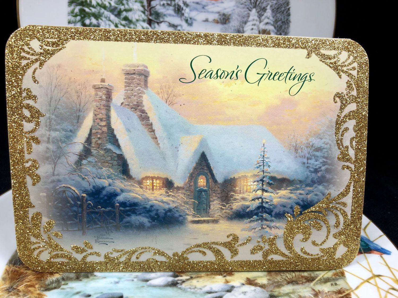 Новогодние открытки америки
