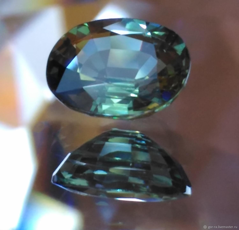 Сапфир зеленый 0,825 кт., природный, Минералы, Йошкар-Ола,  Фото №1