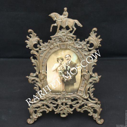 Винтажные предметы интерьера. Ярмарка Мастеров - ручная работа. Купить Антикварная рамка для фото конь Франция 19век 22. Handmade.