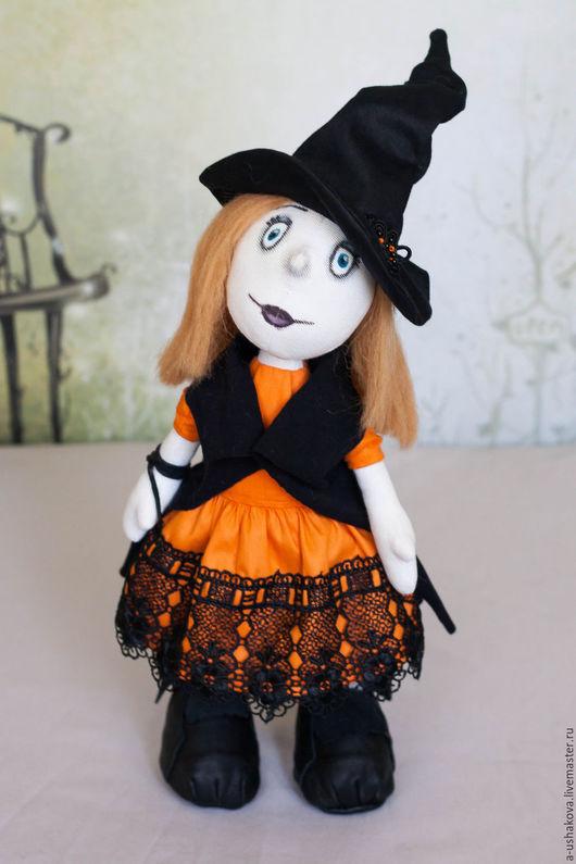 Человечки ручной работы. Ярмарка Мастеров - ручная работа. Купить Интерьерная кукла Ведьмочка. Handmade. Комбинированный, ручная работа, подарок