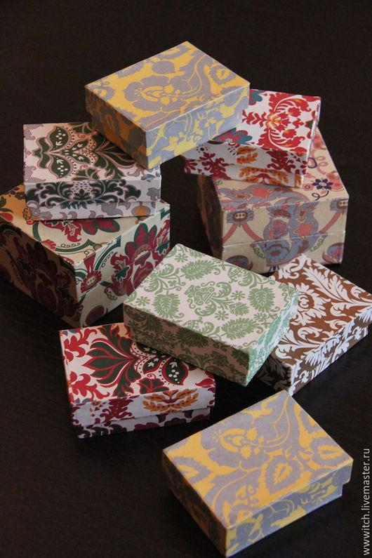 Коробочка для хранения или упаковки подарка, ручная работа, картон, коллекционная бумага, орнаменты эпохи Барокко