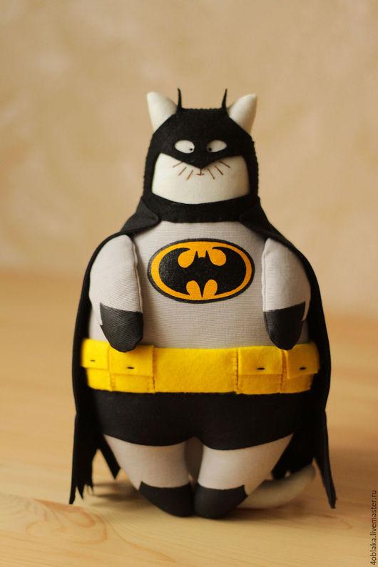 Игрушки животные, ручной работы. Ярмарка Мастеров - ручная работа. Купить Кот Бэтмен. Handmade. Подарок, суперкот, подарок мужчине
