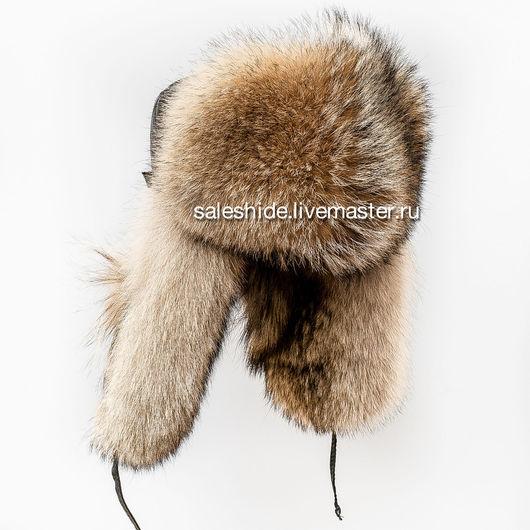 Шапки ручной работы. Ярмарка Мастеров - ручная работа. Купить Мужская шапка из меха волка и натуральной кожи. Handmade.