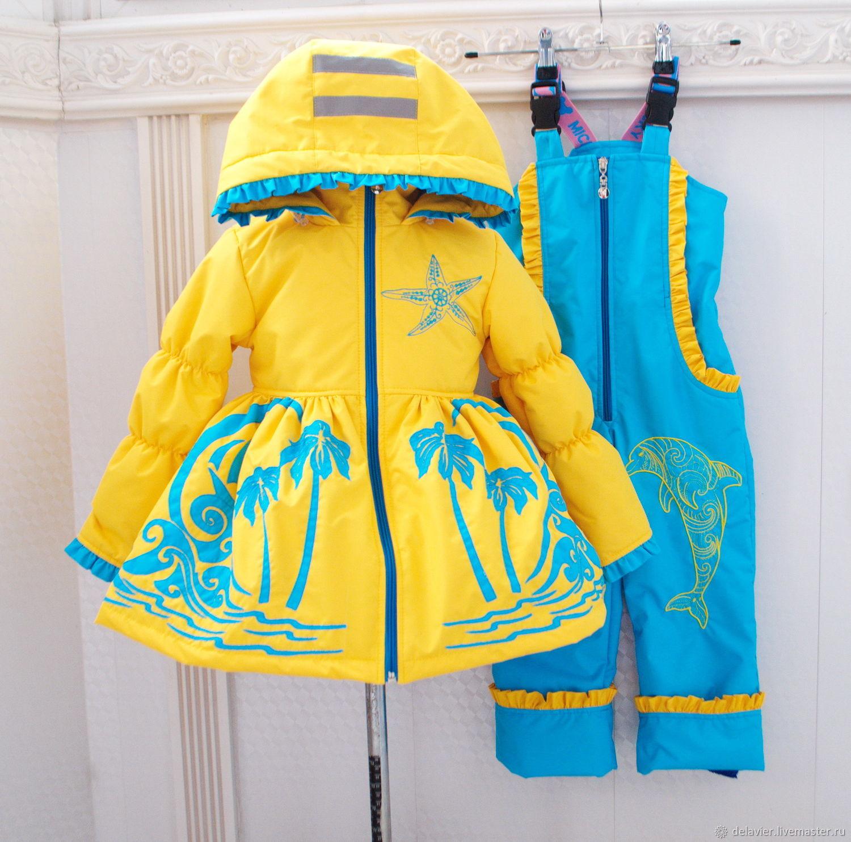 """Одежда для девочек, ручной работы. Ярмарка Мастеров - ручная работа. Купить Демисезонный  комплект для девочки """"Море-море"""". Handmade. Для девочек"""