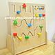 Развивающие игрушки ручной работы. Ярмарка Мастеров - ручная работа. Купить Развивающий Модуль Геометрический Лабиринт Движение по прорези. Handmade.
