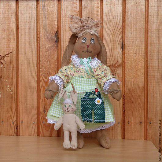 Ароматизированные куклы ручной работы. Ярмарка Мастеров - ручная работа. Купить ароматизированная игрушка Зайка с Зайчонком. Handmade. Куклы и игрушки