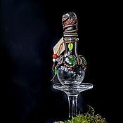 Бутылки ручной работы. Ярмарка Мастеров - ручная работа Бутылочка для зелий (колба) круглая. Handmade.