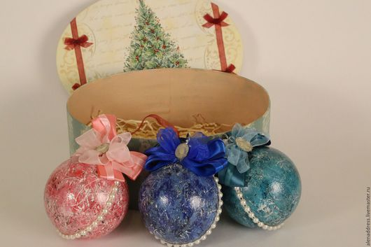 """Персональные подарки ручной работы. Ярмарка Мастеров - ручная работа. Купить Набор шариков """"Новогодние"""". Handmade. Комбинированный, подарок мужчине"""