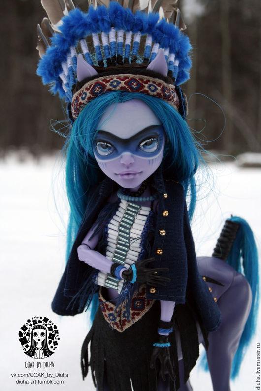 Коллекционные куклы ручной работы. Ярмарка Мастеров - ручная работа. Купить ООАК Авея Троттер Monster High. Handmade. Разноцветный
