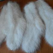 Аксессуары ручной работы. Ярмарка Мастеров - ручная работа Носки из кроличьего пуха белые. Handmade.