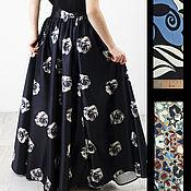 Длинная юбка в пол из шелка dolce & gabbana