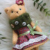 Куклы и игрушки ручной работы. Ярмарка Мастеров - ручная работа Мишка. Тедди. В бордовом.. Handmade.