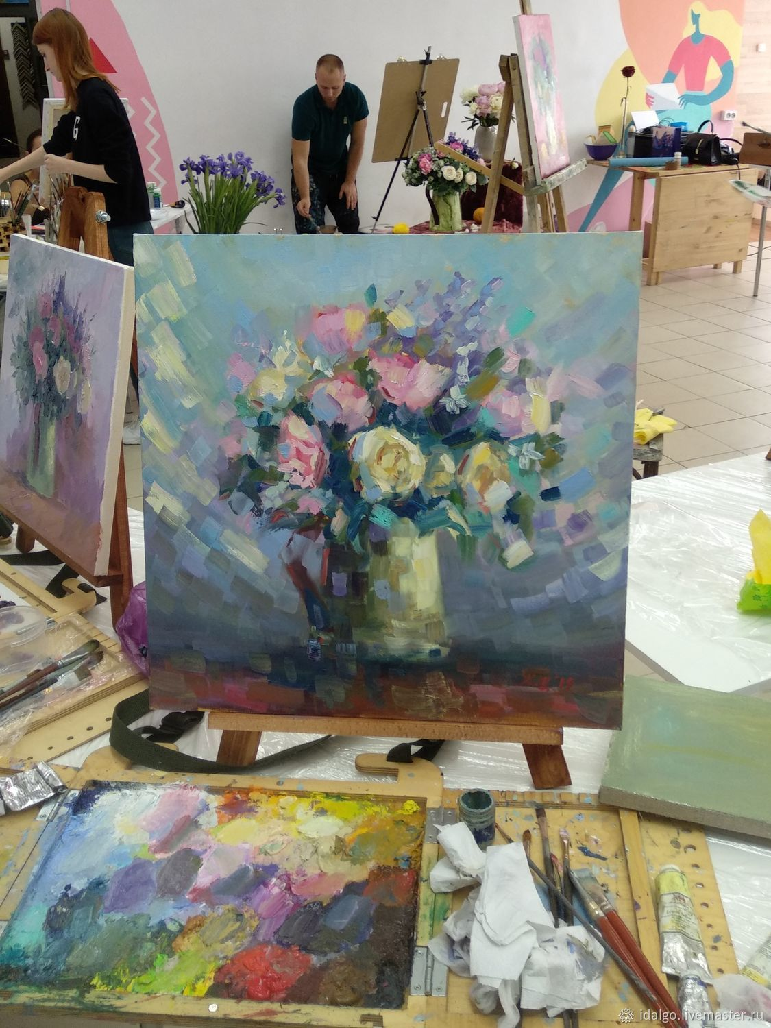 Oil painting 'Love and flowers', Pictures, Nizhny Novgorod, Фото №1