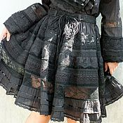 Одежда handmade. Livemaster - original item The skirt of embroidery and lace in the style of boho