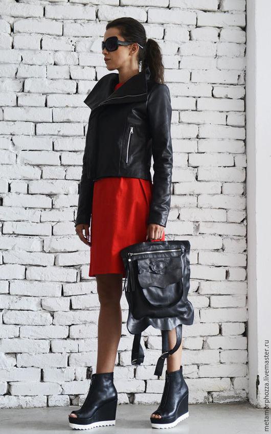 Рюкзаки ручной работы. Ярмарка Мастеров - ручная работа. Купить Кожаный рюкзак, рюкзак черный. Handmade. Черный, сумка рюкзак