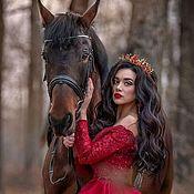 Украшения handmade. Livemaster - original item Crown, tiara, children`s crown, red crown, for Queen, Princess. Handmade.