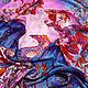 """Шарфы и шарфики ручной работы. шелковый батик платок """"Дракончик и папоротники"""". Amarga. Шелк, батик, роспись тканей. Ярмарка Мастеров."""