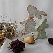 Подарки к праздникам ручной работы. Ярмарка Мастеров - ручная работа Пасхальные кролики. Handmade.