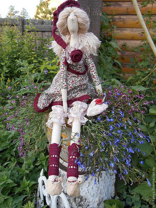 Куклы Тильды ручной работы. Ярмарка Мастеров - ручная работа. Купить Кукла в стиле Тильда. Handmade. Бордовый, фея тильда
