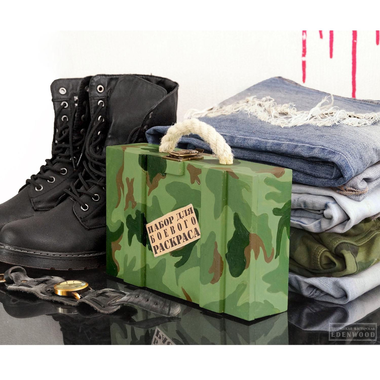 """Косметичка чемоданчик шкатулка""""Набор для боевого раскраса"""""""